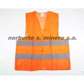 Chaleco seguridad vial naranja con cinta refractaria